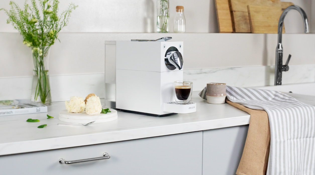 Una Automatic White in cucina, perfetta per la sua eleganza.