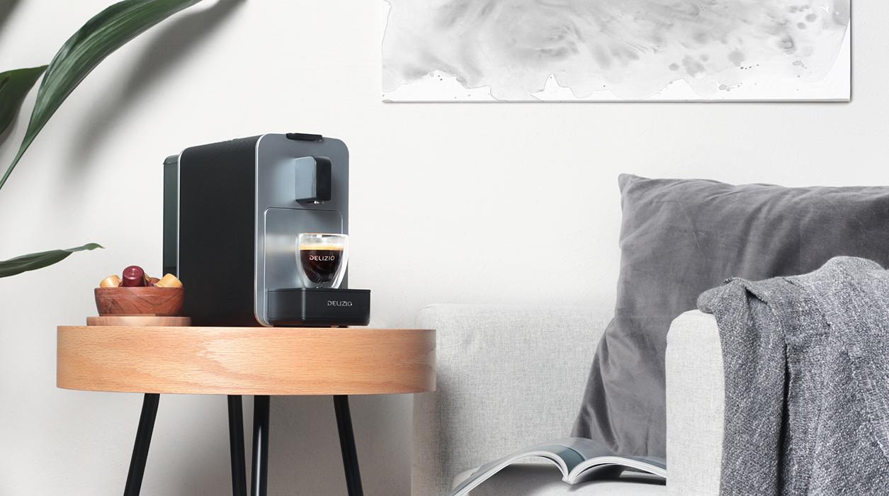 Premium Desigen und eine perfekte Erweiterung für Ihre Wohnung - Delizio Viva Elegante Kaffeemaschine
